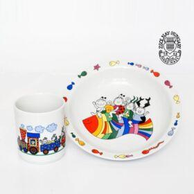 Bogyó és Babóca Zsolnay porcelán étkészlet