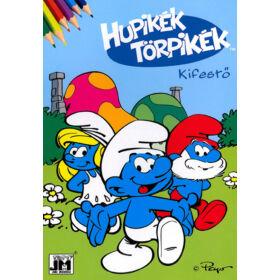 Hupikék Törpikék kifestő és színező (A5)