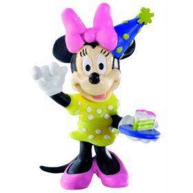 7 cm-es Minnie egér ünnepel gumírozott műanyag figura