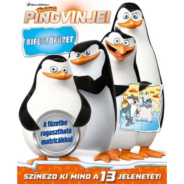 Madagaszkár Pingvinjei kifestő