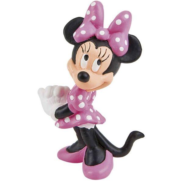 7 cm-es Minnie egér rózsaszín gumírozott műanyag figura