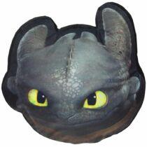 Így neveld a sárkányodat Fogatlan fej alakú mosható puha párna