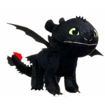 90 cm-es óriás fekete színű Fogatlan - Éjfúria sárkány plüssfigura