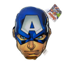 Avengers Amerika Kapitány alakú mosható puha párna - arcképes