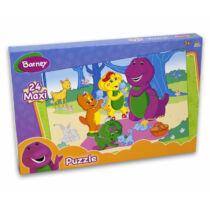 24 db-os, nagy dobozos, nagy darabos Barney puzzle