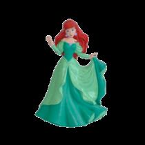 10 cm-es Ariel hercegnő gumírozott műanyag kis figura