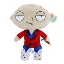 50 cm-es Family Guy Stewie köntösben szivarozik nagy plüssfigura