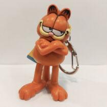 Garfield alakú műanyag kulcstartó