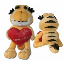 20 cm-es ülő Garfield szivecskével a kezében kis plüssfigura
