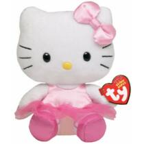 15 cm-es pici plüss rózsaszín balerina Hello Kitty