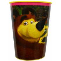 Másha és a medve műanyag pohár