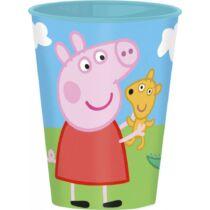 Peppa és Zsoli malac műanyag pohár