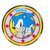 Sonic prémium fém kitűző
