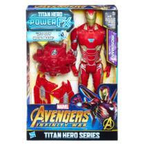 28 cm-es mozgatható Avengers Bosszúállók Vasember beszélő műanyag figura kiegészítőkkel
