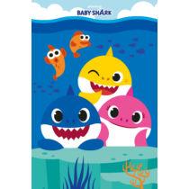 Baby Shark takaró - puha polár