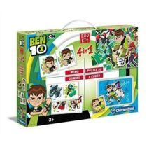 Ben 10 készségfejlesztő szett - puzzle, dominó, memóriajáték és kocka puzzle egyben