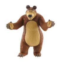 Másha és a medve gumírozott műanyag kis figura 8 cm - Medve figura