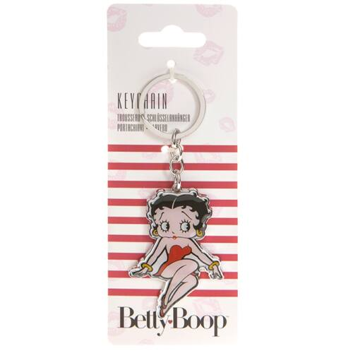 Betty Boop prémium fém kulcstartó