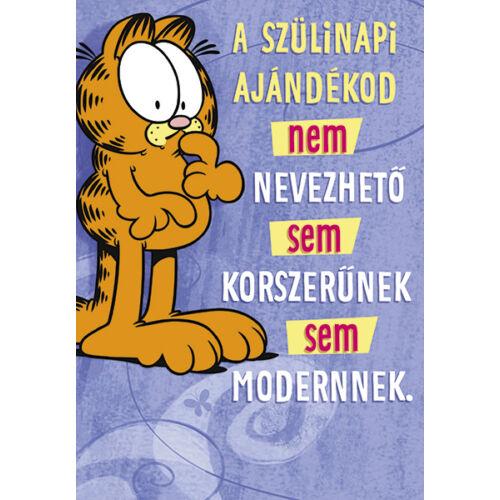 Garfield képeslap - Boldog születésnapot!