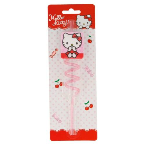 Hello Kitty műanyag csavart szívószál
