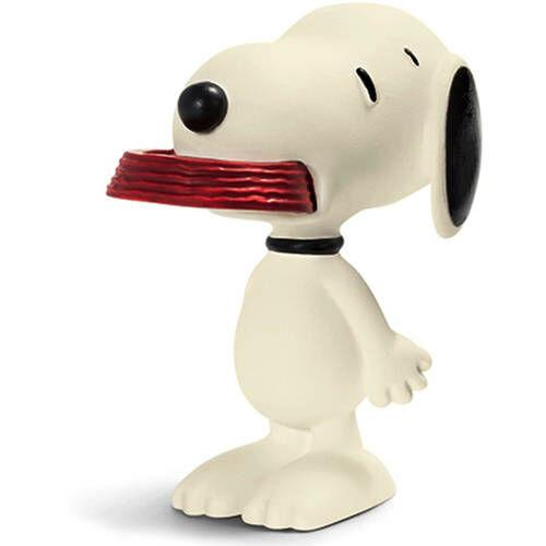 fzizbivel játszó Snoopy gumírozott kis műanyag figura