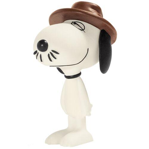 kalapos Snoopy gumírozott műanyag kis figura