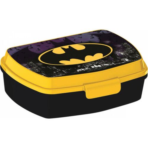 Batman logós műanyag uzsonnás doboz