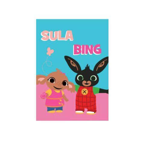 Bing nyuszi és Sula kislányos puha polár takaró
