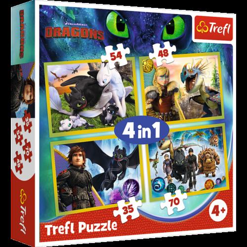 Így neveld a sárkányodat 4 az 1-ben puzzle szett