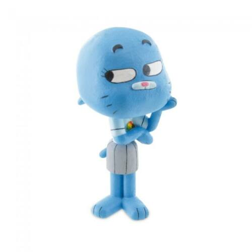 7 cm-es Gumball Csodálatos világa Nicole gumírozott műanyag figura