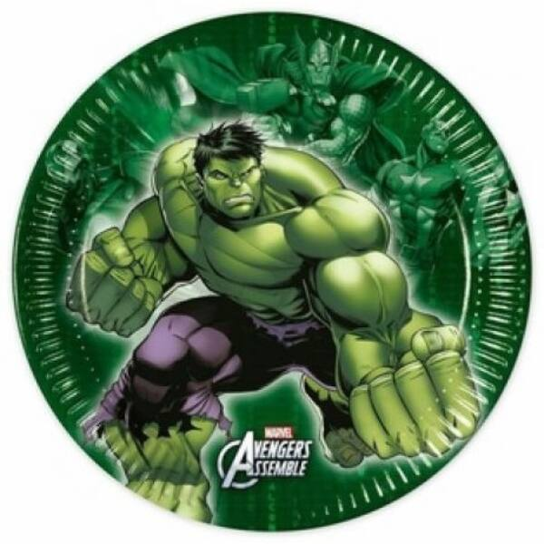 Avengers Hulk papírtányér szett