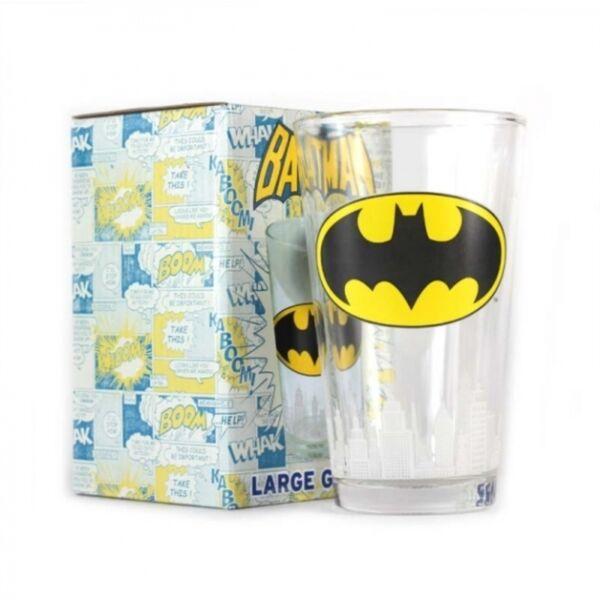 Batman logós üvegpohár