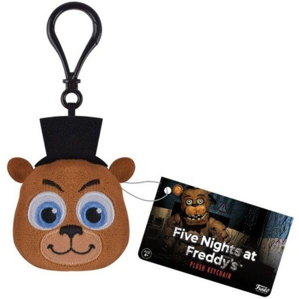 Freddy fej alakú plüss kulcstartó