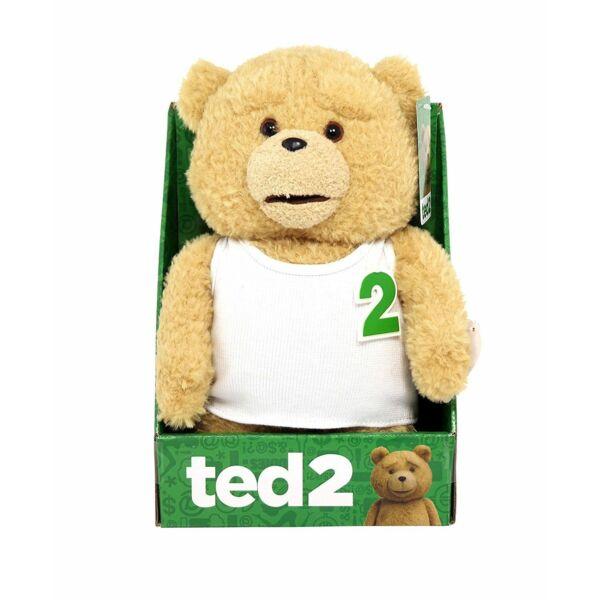 Fehér trikós Ted plüssfigura